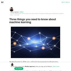 Three things you need to know about machine learning