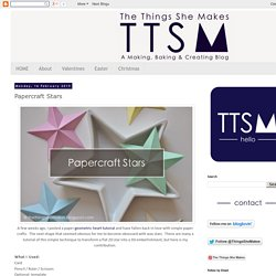 The Things She Makes: Papercraft Stars