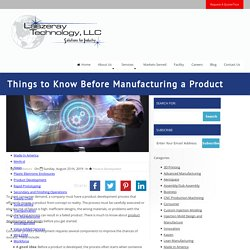 Things to Know Before Manufacturing a Product
