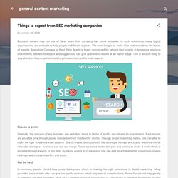 Things to expect from SEO marketing companies