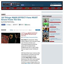 10 Things MASS EFFECT Fans MUST Know From Tie-ins