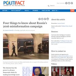 Four things to know about Russia's 2016 misinformation campaign