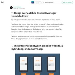11 Things Every Mobile Product Manager Needs to Know — Mobile Growth