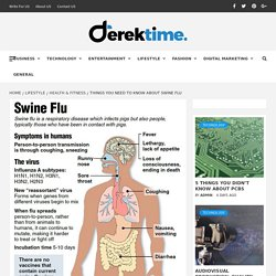 Things You Need To Know About Swine Flu