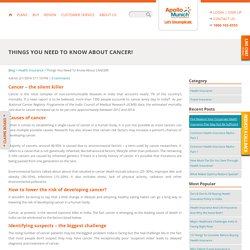 Things You Need To Know About CANCER!