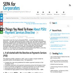5 Things You Need To Know About PSD2