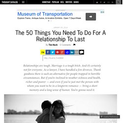 The 50 Things You Need To Do For A Relationship To Last