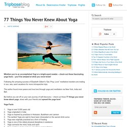 77 Things You Never Knew About Yoga