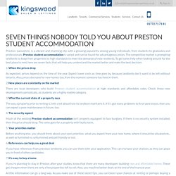 Seven Things Nobody Told You about Preston Student Accommodation