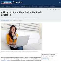 4 Things to Know About Online, For-Profit Education