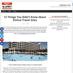 12 Things You Didn't Know About Online Travel Sites