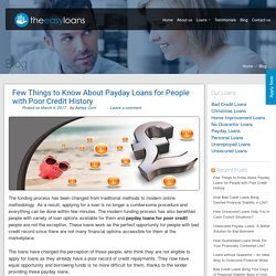 Few Things to Know About Payday Loans for People with Poor Credit History