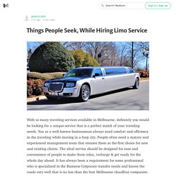 Things People Seek, While Hiring Limo Service