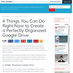 4 Things You Can Do Right Now To Create A Perfectly Organized Google Drive