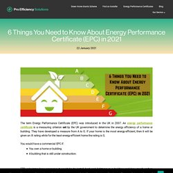 6 Things You Need to Know About Energy Performance Certificate (EPC) in 2021
