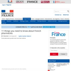 11 things you need to know about French pharmacies