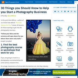 30 Things you Should Know to Help you Start a Photography Business