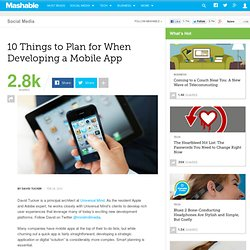 10 Things to Plan for When Developing a Mobile App