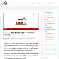 10 things you should know about Presumptive Taxation Scheme