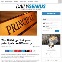 The 18 things that great principals do differently