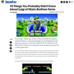 10 Things You Probably Didn't Know About Luigi of Mario Brothers Fame