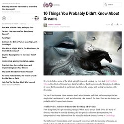 10 Things You Probably Didn't Know About Dreams