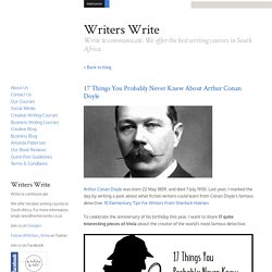 17 Things You Probably Never Knew About Arthur Conan Doyle