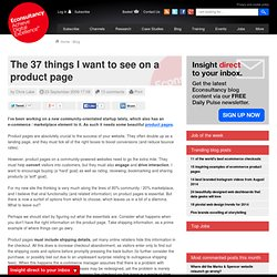 The 37 things I want to see on a product page | Blog | Econsulta