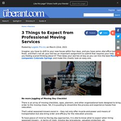 3 Things to Expect from Professional Moving Services