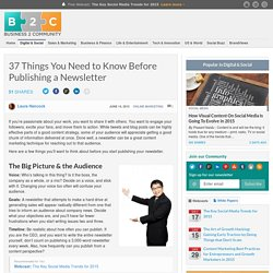 37 Things You Need to Know Before Publishing a Newsletter