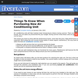 Things To Know When Purchasing New Air Conditioning Unit