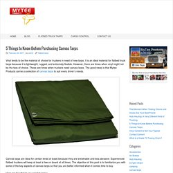 5 Things to Know Before Purchasing Canvas Tarps