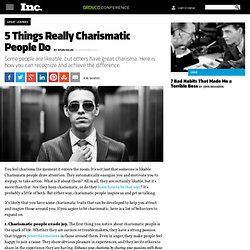 5 Things Really Charismatic People Do
