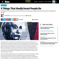 5 Things That Really Smart People Do