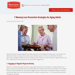 7 Things that Reduce the Risk of Memory Loss in Seniors