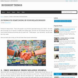 20 THINGS TO START DOING IN YOUR RELATIONSHIPS - Buddhist Things