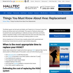 Things You Must Know About Hvac Replacement