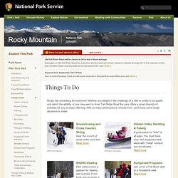 Rocky Mountain National Park - Things To Do (U.S. National Park Service)