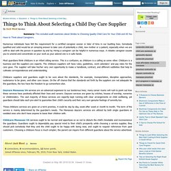 Things to Think About Selecting a Child Day Care Supplier by Jack Mont