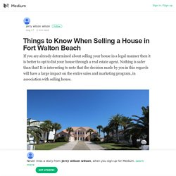 Things to Know When Selling a House in Fort Walton Beach
