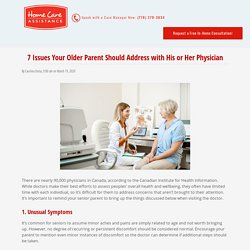 7 Things Your Senior Parent Should Discuss with the Doctor