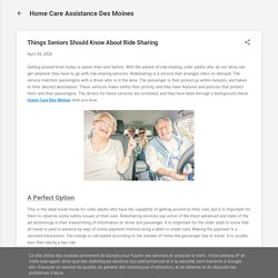 Things Seniors Should Know About Ride Sharing