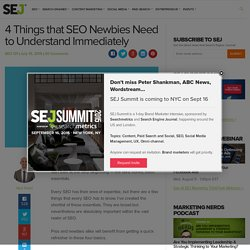 4 Things that SEO Newbies Need to Know