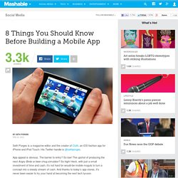 8 Things You Should Know Before Building a Mobile App