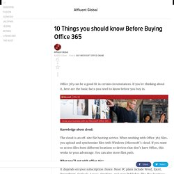 10 Things you should know Before Buying Office 365