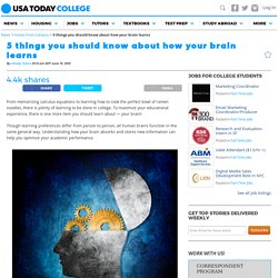 5 things you should know about how your brain learns
