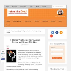 10 Things You Should Know About Design and Design Thinking