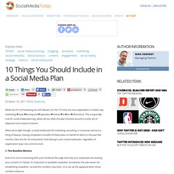 10 Things You Should Include in a Social Media Plan