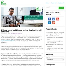 Things you should know before Buying Payroll Software