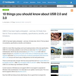 10 things you should know about USB 2.0 and 3.0